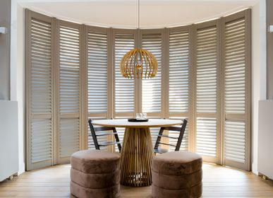 Curtains and window coverings - JASNO SHUTTERS - Interior shutter with adjustable shutters for Bow Window and Veranda - JASNO
