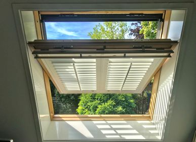Curtains and window coverings - JASNO SHUTTERS - interior shutter with adjustable shutters in roof window and Velux - JASNO
