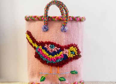 "Bags and totes - ""Nathalie's Birds"" - Baskets - PO! PARIS"