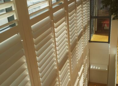 Curtains and window coverings - JASNO SHUTTERS - interior shutter with adjustable shutters in stairs - JASNO