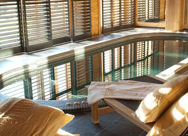 Curtains and window coverings - JASNO SHUTTERS - indoor shutter with adjustable blinds for spa and indoor pool - JASNO