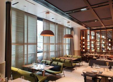 Partitions - JASNO SHUTTERS - interior shutter with adjustable blinds in hospitality, museums - JASNO