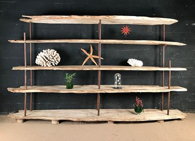 Bookshelves - Driftwood Bookcase - DECO-NATURE