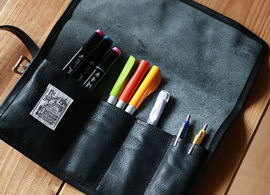 Stationery - leather roll pen case - THE SUPERIOR LABOR