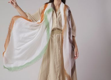 Scarves - Gran souffle dip dye white - MIRROR IN THE SKY