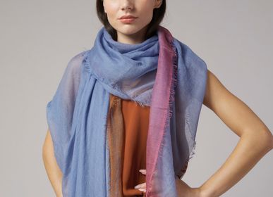 Scarves - Gran Souffle Tibetan Dip Dye - MIRROR IN THE SKY