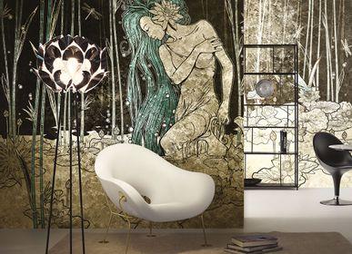 Wallpaper - Bluemoon Black Gold and Blue Design Wallpaper - LA MAISON MURAEM