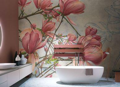 Papiers peints - Tapisserie luxe design Magnolia in bloom - LA MAISON MURAEM