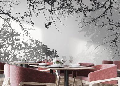 Wallpaper - Ramos Premium Grey and White Tree Wallpaper - LA MAISON MURAEM