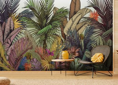 Papiers peints - Papier peint jungle haut de gamme Palm Color - LA MAISON MURAEM