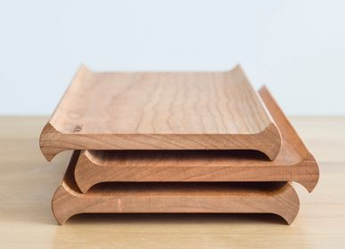 Everyday plates - SENRO - wooden tray - - SUNAOLAB.