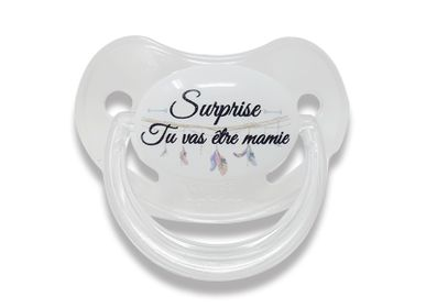 Childcare  accessories - Physiological announcement lollipop 0-6 months - Surprise you're going to be GRANDMA! - IRRÉVERSIBLE