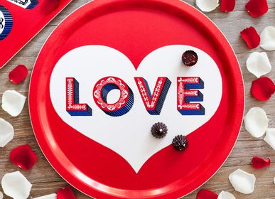 Trays - LOVE - Word collection - Trays - Coaster - JAMIDA OF SWEDEN
