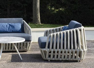 Lawn armchairs - LITUS / Armchair 1-seater - 10DEKA OUTDOOR FURNITURE