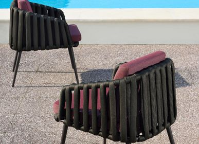 Lawn chairs - LITUS / Dining armchair - 10DEKA OUTDOOR FURNITURE