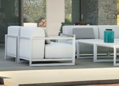 Lawn armchairs - NUBES / Armchair - 10DEKA OUTDOOR FURNITURE
