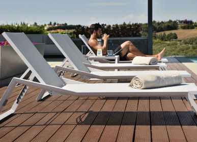 Outdoor space equipments - NUBES / Sunlounger - 10DEKA OUTDOOR FURNITURE