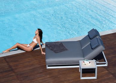 Outdoor space equipments - NUBES / Double sunlounger - 10DEKA OUTDOOR FURNITURE