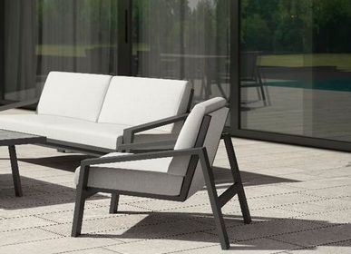 Lawn armchairs - PULVIS/ Armchair 1-seater - 10DEKA OUTDOOR FURNITURE