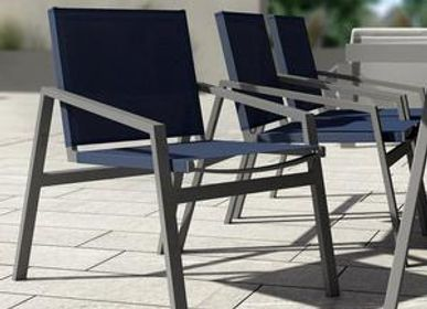 Lawn chairs - PULVIS/ Dining armchair - 10DEKA OUTDOOR FURNITURE