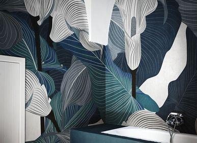 Papiers peints - Papier peint salle de bain design bleu Cloe - LA MAISON MURAEM