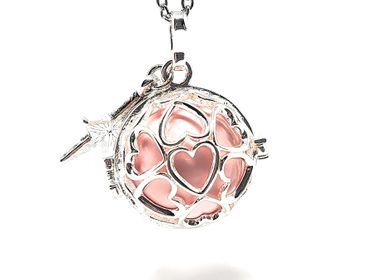 Jewelry - Maternity bola silver cage - ADRIANA (star/pink ball) - IRRÉVERSIBLE