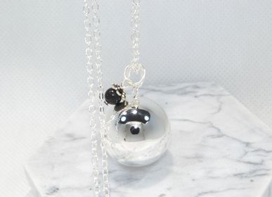 Childcare - Maternity Bola Silver Smooth Natural Stone - Obsidian - IRRÉVERSIBLE
