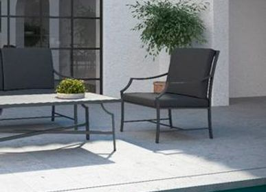 Lawn armchairs - AGOSTO / Lounge armchair - 10DEKA OUTDOOR FURNITURE