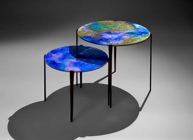 Tables basses - Tables Gigognes Iris - GLASS & ART BY F