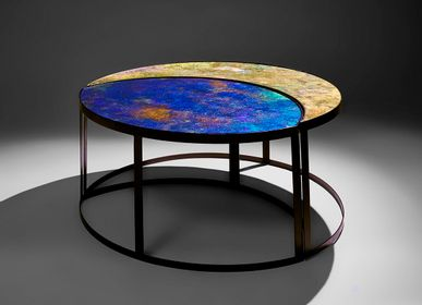 Tables basses - Table basse Lune - GLASS & ART BY F