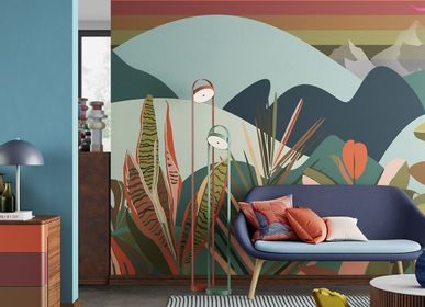 Papiers peints - Papier peint paysage multicolore Melting-Pot - LA MAISON MURAEM