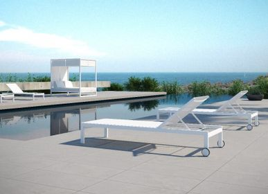 Deck chairs - MILOS/ Sunlounger - 10DEKA OUTDOOR FURNITURE