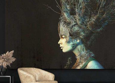 Papiers peints - Papier peint design visage femme Cristal - LA MAISON MURAEM