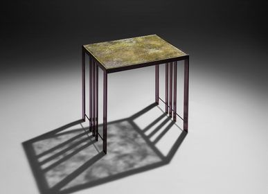 Coffee tables - Lyra Side Table - GLASS & ART BY F
