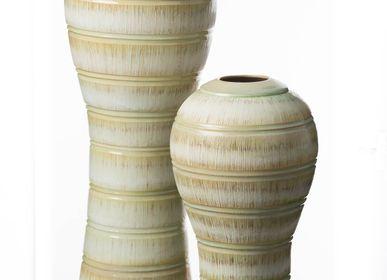 Céramique - Vase convexe vert sarcelle - S.BERNARDO