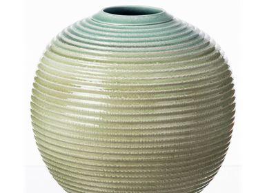 Céramique - Vase globe vert sarcelle - S.BERNARDO
