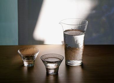 "Glass - ""CULTUS""Japanese Handcrafted Organic Texture Crystal Glass Sake Cup & Carafe - TOYO-SASAKI GLASS"