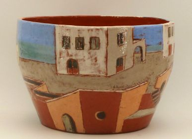 Ceramic - Archi Decor Pot Cover - ELISABETH BOURGET