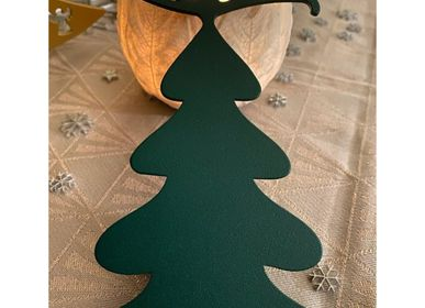 Christmas garlands and baubles - SET OF 4 PIECES FIR PATTERN _ 2 dimensions H15cm and H9cm - LP DESIGN