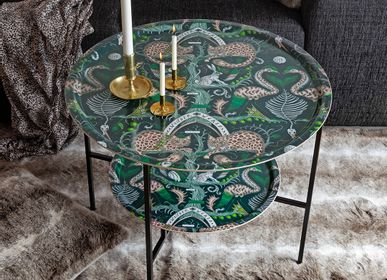Trays - Lost World/teal - Tray table - Table mat - coaster - placemat - JAMIDA OF SWEDEN