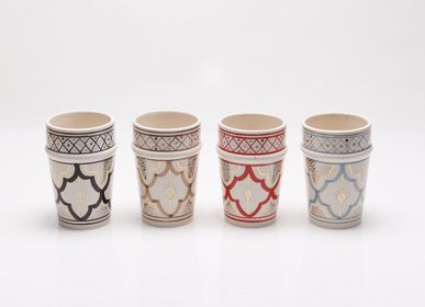 Coffee and tea - Handmade ceramic glasses - POTERIE SERGHINI