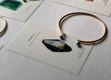 Jewelry - Gold Hematite Bangle - GIVE ME HAPPINESS
