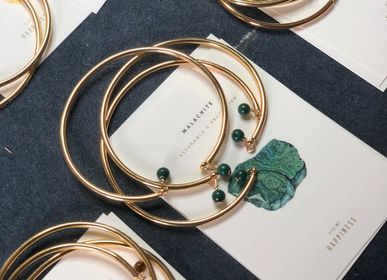 Jewelry - Malachite Gold Bangle - GIVE ME HAPPINESS