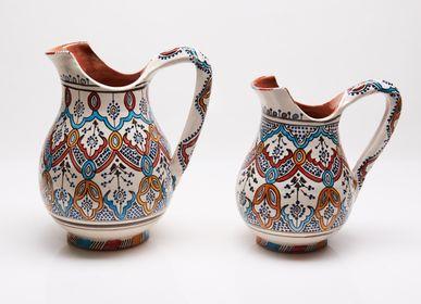 Vases - Ceramic handmade ceramic pitchers (carafes, jugs) - POTERIE SERGHINI