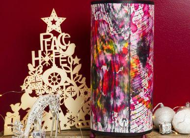 Lampes à poser - Lampe Encres et bois Rose - ATELIER TAMBONE