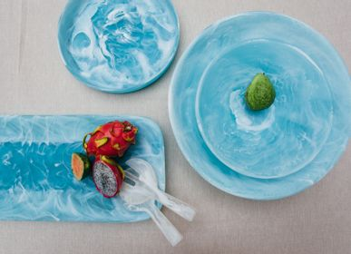 Platter, bowls - Everyday_Medium bowl_ Aqua - NASHI HOME