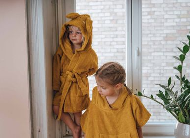 Children's bathtime - Bathrobe, Poncho and Baby and Child Bath Cape in Organic Cotton - KIKADU