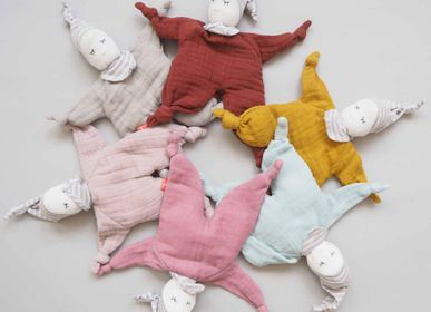 Soft toy - Comforter and plush in organic cotton - KIKADU