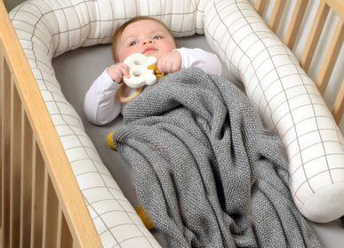 Fabric cushions - Organic Cotton Baby Bedding Set, Blanket, Pillow and Cushion - KIKADU