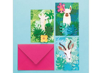Creative Hobbies - Creative kit - Postcards - Animals - FRENCH KITS